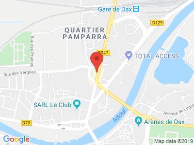 Plan Google Stage recuperation de points à Dax proche de Orthez