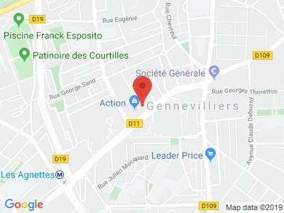 Plan Google Stage recuperation de points à Gennevilliers proche de Bois-Colombes