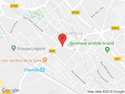Plan Google Stage recuperation de points à Chambly proche de Beauvais