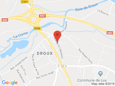 Plan Google Stage recuperation de points à Lux proche de Chalon-sur-Saône