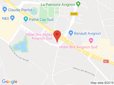 Plan Google Stage recuperation de points à Avignon proche de Carpentras