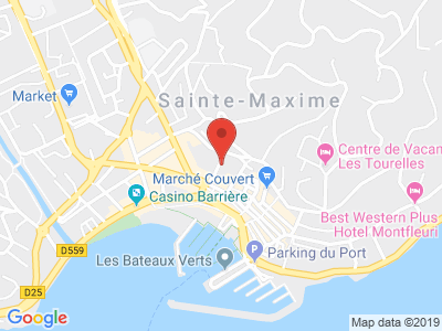 Plan Google Stage recuperation de points à Sainte-Maxime proche de Trans-en-Provence