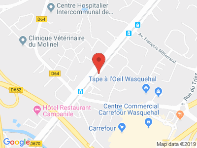 Plan Google Stage recuperation de points à Wasquehal proche de Tourcoing