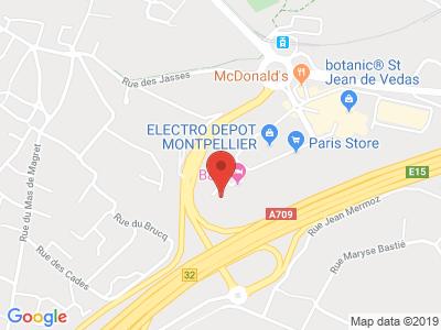 Plan Google Stage recuperation de points à Saint-Jean-de-Védas proche de Balaruc-le-Vieux