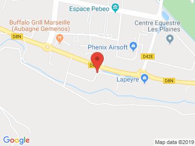 Plan Google Stage recuperation de points à Gémenos proche de Aubagne