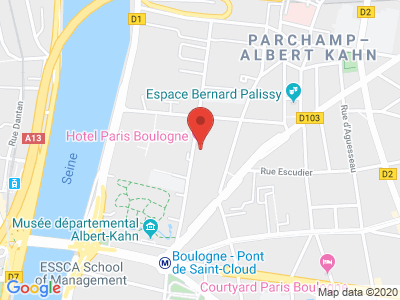 Plan Google Stage recuperation de points à Boulogne-Billancourt