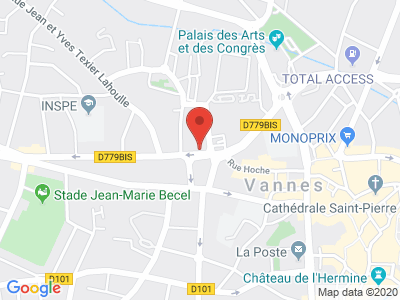 Plan Google Stage recuperation de points à Vannes proche de Arradon