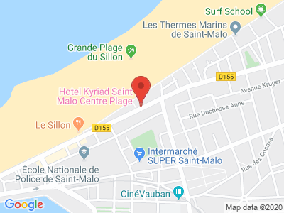 Plan Google Stage recuperation de points à Saint-Malo proche de Dinan