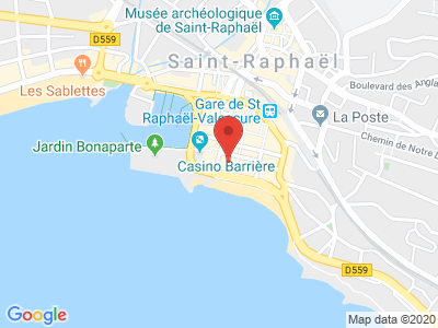 Plan Google Stage recuperation de points à Saint-Raphaël proche de Fréjus