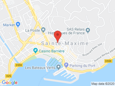 Plan Google Stage recuperation de points à Sainte-Maxime proche de Draguignan