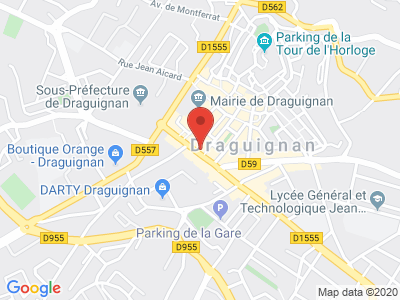 Plan Google Stage recuperation de points à Draguignan proche de Trans-en-Provence