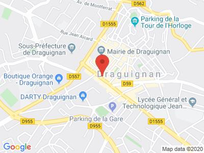 Plan Google Stage recuperation de points à Draguignan proche de Les Arcs