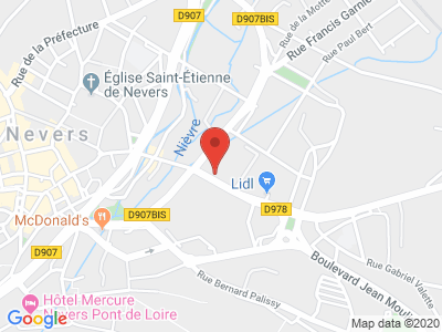 Plan Google Stage recuperation de points à Nevers proche de Varennes-Vauzelles