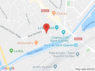 Plan Google Stage recuperation de points à Saint-Quentin