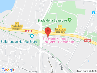 Plan Google Stage recuperation de points à Nantes proche de Saint-Herblain