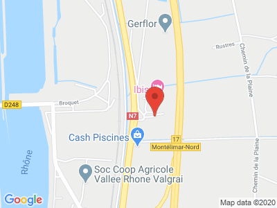 Plan Google Stage recuperation de points à Saulce-sur-Rhône