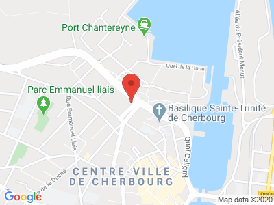 Plan Google Stage recuperation de points à Cherbourg-Octeville