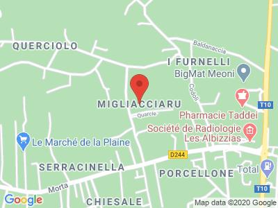 Plan Google Stage recuperation de points à Prunelli-di-Fiumorbo proche de Porto-Vecchio