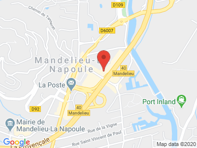 Plan Google Stage recuperation de points à Mandelieu-la-Napoule