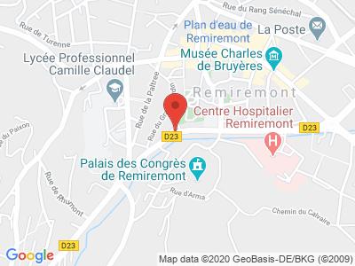 Plan Google Stage recuperation de points à Remiremont proche de Luxeuil-les-Bains