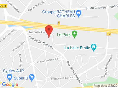 Plan Google Stage recuperation de points à Noisy-le-Grand proche de Chelles