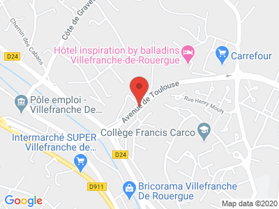 Plan Google Stage recuperation de points à Villefranche-de-Rouergue
