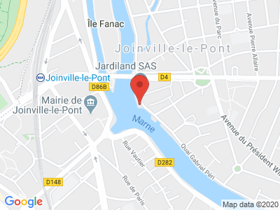 Plan Google Stage recuperation de points à Joinville-le-Pont proche de Saint-Maurice