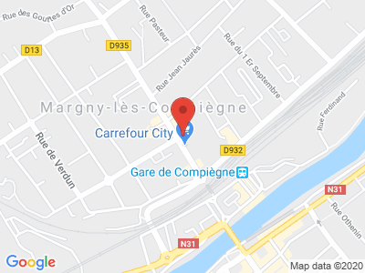 Plan Google Stage recuperation de points à Compiègne