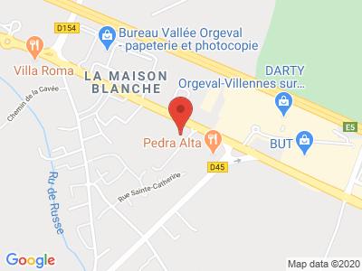 Plan Google Stage recuperation de points à Orgeval proche de Mantes-la-Jolie