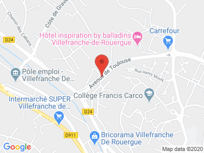 Plan Google Stage recuperation de points à Villefranche-de-Rouergue proche de Sainte-Radegonde