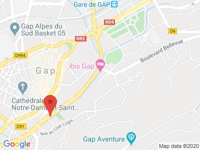 Plan Google Stage recuperation de points à Gap proche de Digne-les-Bains