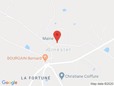 Plan Google Stage recuperation de points à Ginestet proche de Périgueux