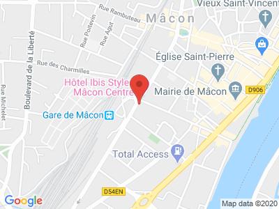 Plan Google Stage recuperation de points à Mâcon proche de Chaintré