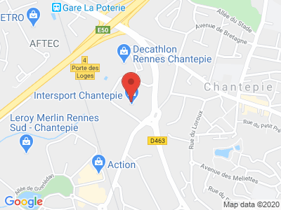 Plan Google Stage recuperation de points à Chantepie proche de Rennes