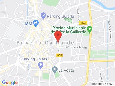 Plan Google Stage recuperation de points à Brive-la-Gaillarde proche de Terrasson-Lavilledieu