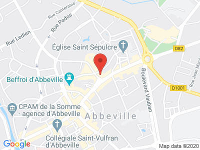 Plan Google Stage recuperation de points à Abbeville