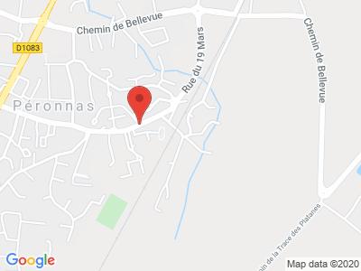 Plan Google Stage recuperation de points à Péronnas proche de Mâcon