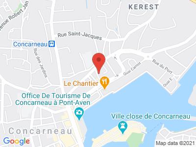 Plan Google Stage recuperation de points à Concarneau proche de Ergué-Gabéric