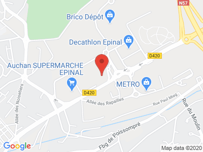 Plan Google Stage recuperation de points à Épinal proche de Remiremont