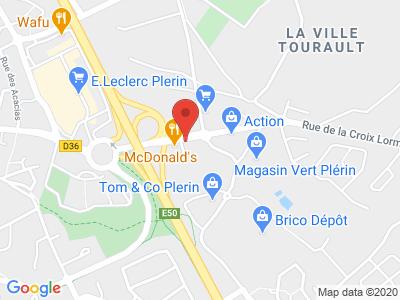 Plan Google Stage recuperation de points à Plérin proche de Trégueux