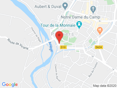 Plan Google Stage recuperation de points à Pamiers proche de Foix