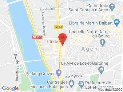 Plan Google Stage recuperation de points à Agen proche de Estillac