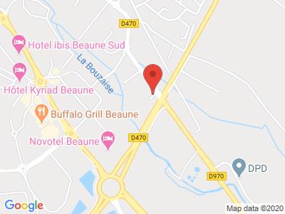 Plan Google Stage recuperation de points à Beaune proche de Dijon