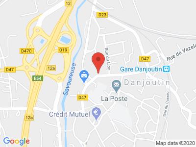 Plan Google Stage recuperation de points à Danjoutin proche de Andelnans