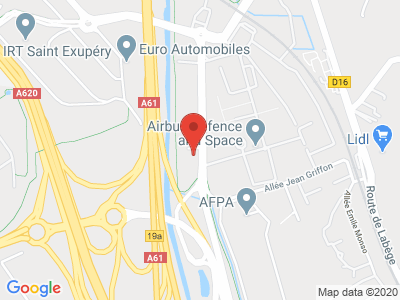 Plan Google Stage recuperation de points à Toulouse proche de Colomiers