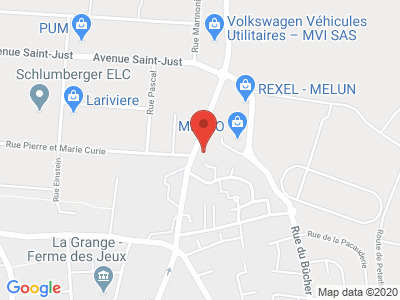 Plan Google Stage recuperation de points à Vaux-le-Pénil proche de Melun
