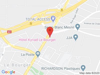 Plan Google Stage recuperation de points à Le Bourget proche de Saint-Denis