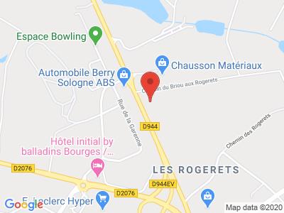 Plan Google Stage recuperation de points à Saint-Doulchard proche de Subdray