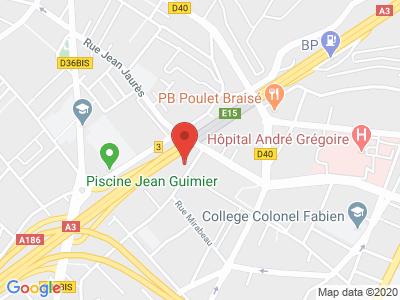 Plan Google Stage recuperation de points à Romainville proche de Rosny-sous-Bois