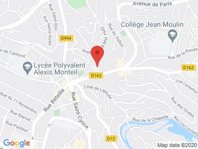 Plan Google Stage recuperation de points à Rodez proche de Sainte-Radegonde